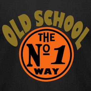 old school shirt - Men's T-Shirt by American Apparel