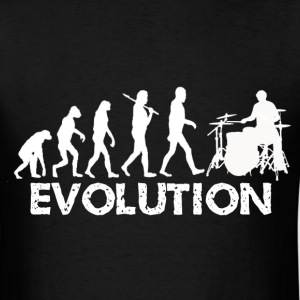 Evolution of a Drummer - Men's T-Shirt