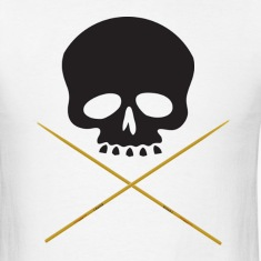 Skull with Drum Sticks