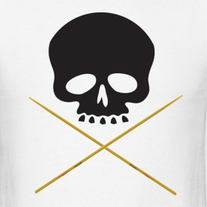 Skull with Drum Sticks - Men's T-Shirt