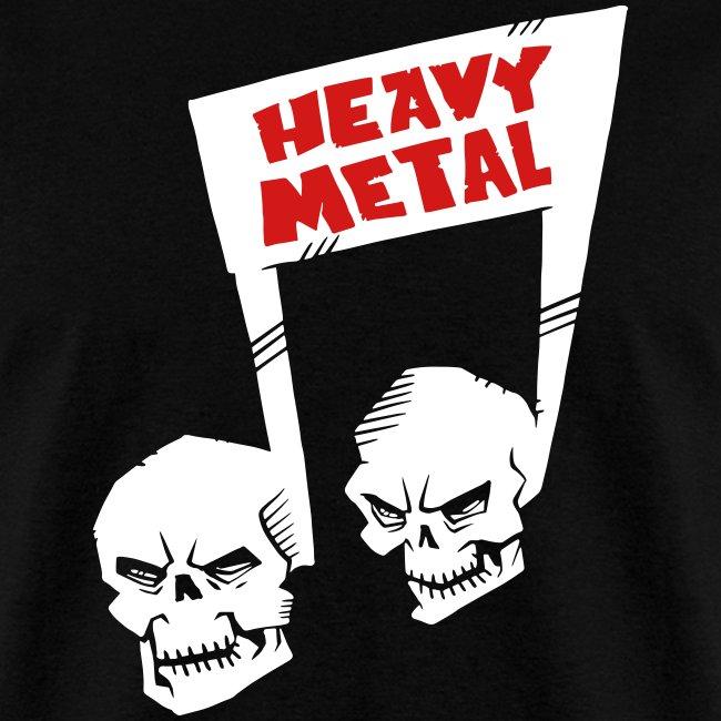 Heavy Metal music note skulls