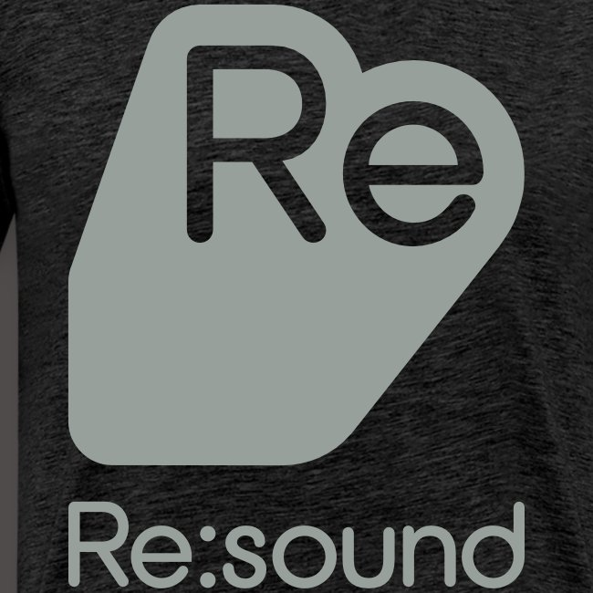 Premium T-Shirt with Re:Sound Logo in Grey Text