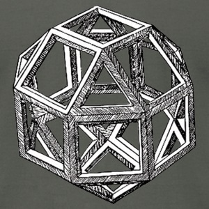 Da Vinci Polyhedron - Tshirt - Men's T-Shirt by American Apparel