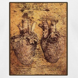 Leonardo da Vinci's Heart Drawing - Men's T-Shirt by American Apparel