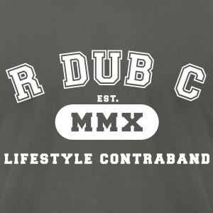R dub C - Collegiate T-Shirts - Men's T-Shirt by American Apparel