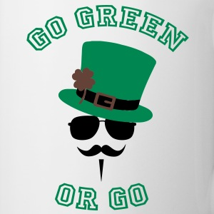 Go Green Moustache 2 Bottles & Mugs - Coffee/Tea Mug