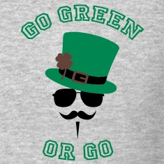 Go Green Moustache 2 Long Sleeve Shirts