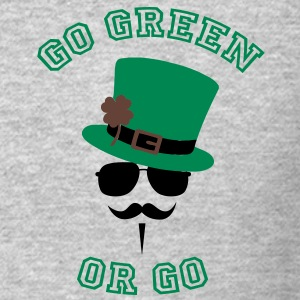 Go Green Moustache 2 Long Sleeve Shirts - Crewneck Sweatshirt