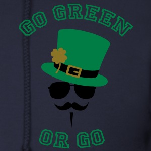 Go Green Moustache 2 Zip Hoodies/Jackets - Men's Zip Hoodie