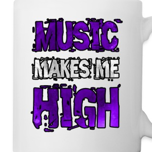 music makes me high Bottles & Mugs - Coffee/Tea Mug