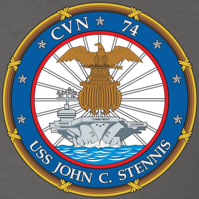 USS JOHN C STENNIS 2018-19 WORLD CRUISE SHIRT