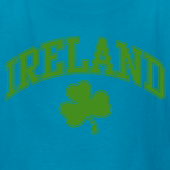Design ~ Glitter Green Ireland Kids T-Shirt