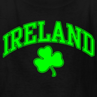 Design ~ Neon Green Ireland Kids T-Shirt