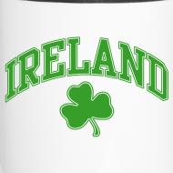Design ~ Green and White Ireland Mug