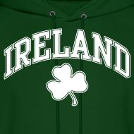 Design ~ Ireland Shamrock Men's Hoodie Sweatshirt