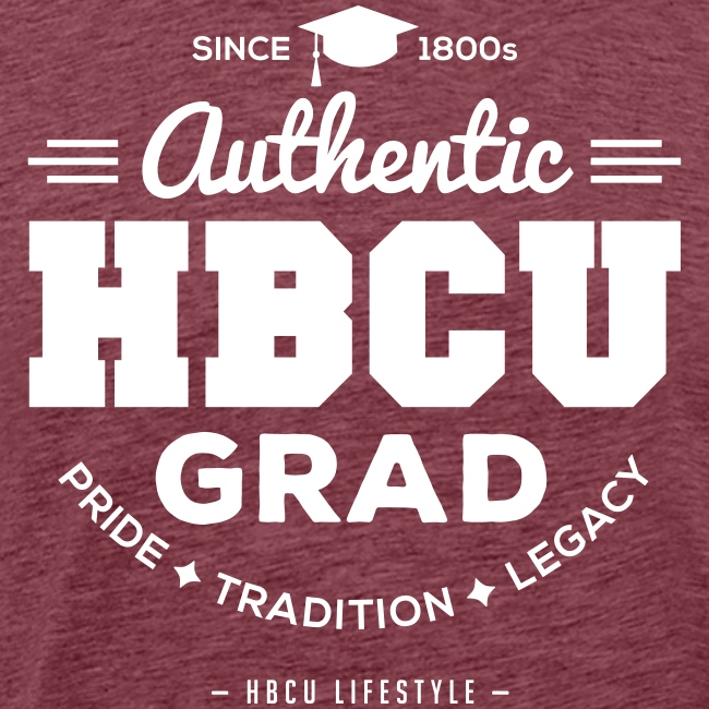 HBCU Grad Shirt - Men's Navy and White T-shirt