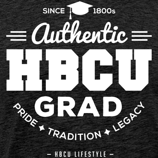 HBCU Grad Shirt - Men's Navy and White T-shirt