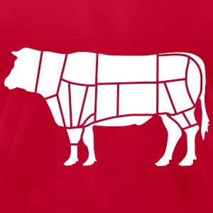 bovine butcher_b1 T-Shirts - Men's T-Shirt by American Apparel