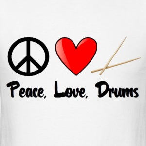 Peace, Love, Drums - Men's T-Shirt