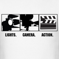 Lights Camera Action  T-Shirts