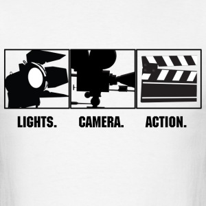 Lights Camera Action  T-Shirts - Men's T-Shirt