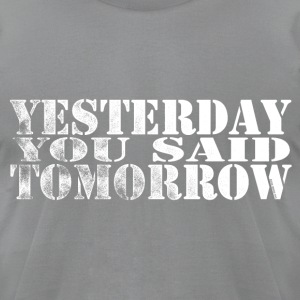 Tomorrow 2 - Men's T-Shirt by American Apparel