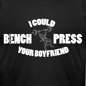 Bench Press 2 - Men's T-Shirt by American Apparel