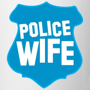 POLICE BADGE wife wive married to cops Bottles & Mugs - Coffee/Tea Mug