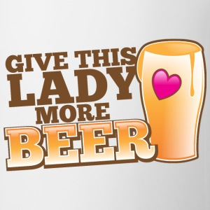 GIVE THIS LADY MORE BEER love heart pint Bottles & Mugs - Coffee/Tea Mug