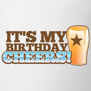It's my BIRTHDAY! CHEERS! pint glass star Bottles & Mugs - Coffee/Tea Mug