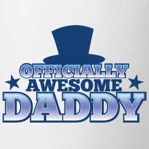 OFFICIALLY AWESOME DADDY with shoes bows cute! Bottles & Mugs - Coffee/Tea Mug