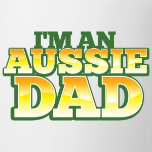 AUSSIE DAD australian father daddy Bottles & Mugs - Coffee/Tea Mug