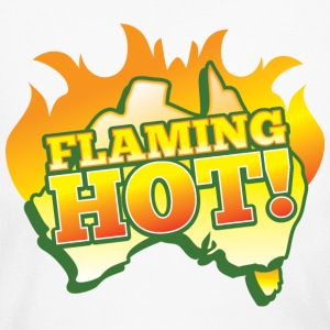 FLAMING HOT Australian fire flames Long Sleeve Shirts - Women's Long Sleeve Jersey T-Shirt