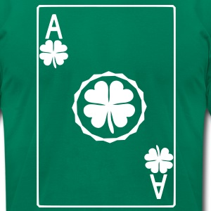 Ace of Shamrock T-Shirts - Men's T-Shirt by American Apparel