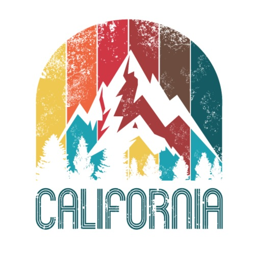 Retro California design for Men Women and Kids