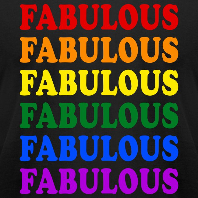 Fabulous Pride Month Flag Mens Jersey T-shirt