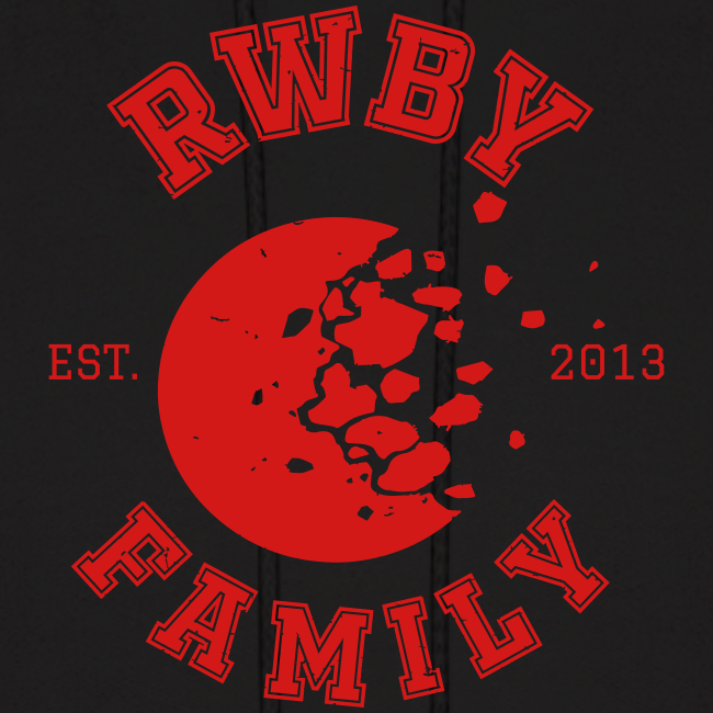RWBY Family Varsity Moon Unisex Hoodie