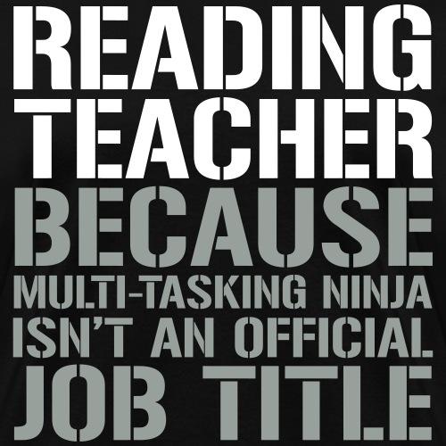 Reading Teacher Ninja Funny Teacher T-shirts
