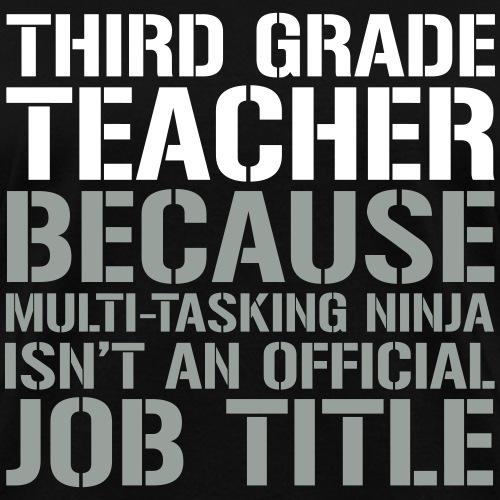 Third Grade Teacher Ninja Funny Teacher T-Shirts