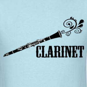 Clarinet with Swirl - Men's T-Shirt