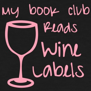 Book club reads wine labels - Women's T-Shirt