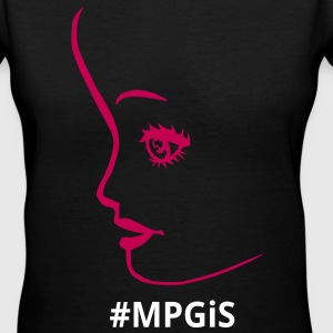 Most Popular Girls pretty face Women's T-Shirts - Women's V-Neck T-Shirt