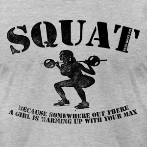 Big Squat T-shirt 2 - Men's T-Shirt by American Apparel