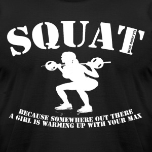 Big Squat T-shirt - Men's T-Shirt by American Apparel