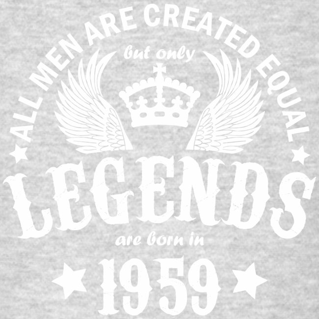 Legends are Born in 1959