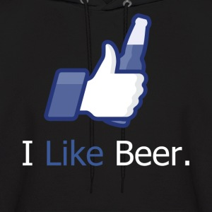 I Like Beer (Social Network) Hooded Sweatshirt - Men's Hoodie
