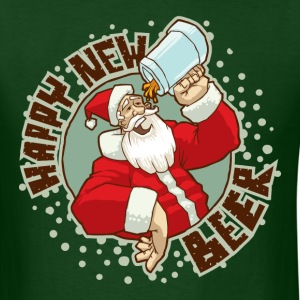 Happy New Beer - Men's T-Shirt