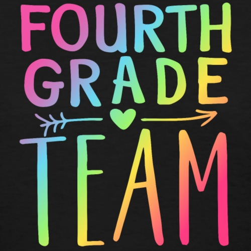 Fourth Grade Team Neon Rainbow