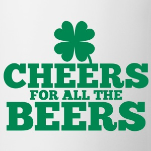 CHEERS for all the BEERS! with a shamrock Bottles & Mugs - Coffee/Tea Mug