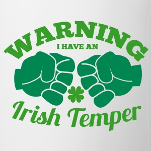 WARNING I have an IRISH TEMPER with boxing fists Bottles & Mugs - Coffee/Tea Mug